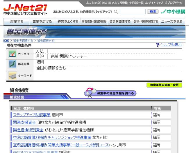 J-NET21資金調達ナビイメージ画像